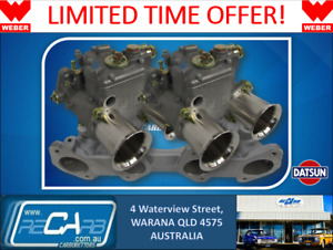 Datsun L16 L18 L20 Genuine Weber Twin 45 Dcoe Carburettor Conversion Kit