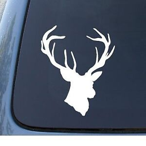 Deer Head Decal Sticker Hunting Buck Decal Sticker For Car Truck Suv
