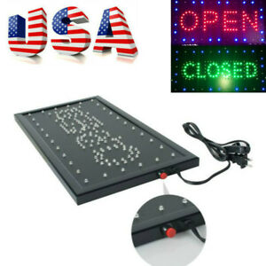 Led Business Sign 2 Color 9 8 20 47 Indoor Message Display Open closed Usa Ship