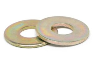 7 8 Grade 8 Flat Washer Sae Pattern Yellow Zinc Plated