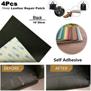 4x Leather Repair Patch Vinyl Adhesive Waterproof Cutable Diy For Sofa Car Seats