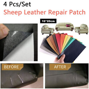4pcs 10 20cm Leather Repair Patch Adhesive Backing For Sofa Car Seats Handbags