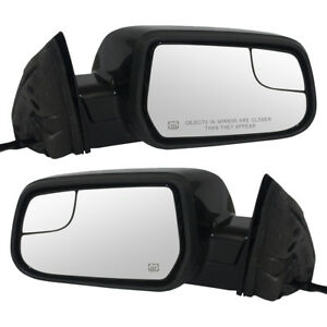 New Pair Set Power Side Mirror Heated Blind Spot Glass 10 14 Equinox Terrain