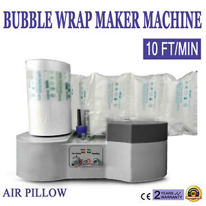 Air Pillow Cushion Bubble wrap Maker Machine Film Packing 10 Ft min Bags Package