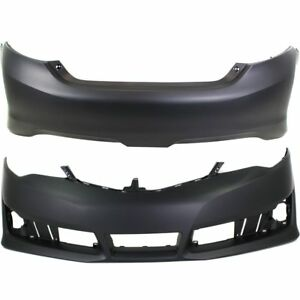 Front Rear Bumper Cover Set For 2012 2014 Toyota Camry Se Se Sport 2 Pcs Capa