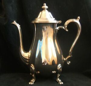 Vintage International Silver Chippendale Silverplate Footed Coffee Pot 6301