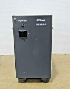 Nikon Psm 4a Florescent Microscope Power Supply For Parts Or Repair