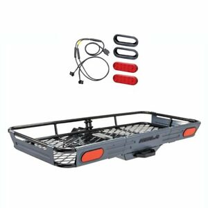 Rola Basket style Cargo Carrier Trailer Hitch Mount 10 Diode Led Light Kit