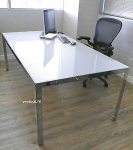 Monica Armani b b Italia The Table White Glass steel As Conference desk dining