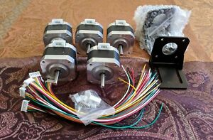 5 X Nema 17 Stepper Motor 5 Complete With Cables And Mounting Hardware
