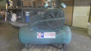 Champion Horizontal Air Compressor 120 Gallon 10 Hp 230 460 Volts 200 Psi Mawp