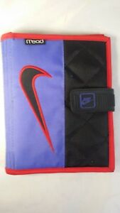 Vintage 1995 Nike Mead Student Day Planner Trapper Keeper 3 Ring Binder 7 5 X 6