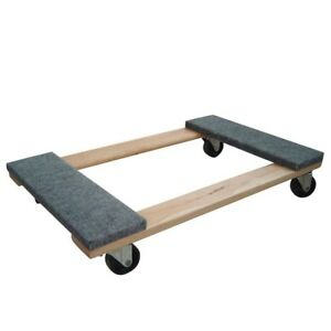 Furniture Dolly Mover 1000 Lb Capacity Swivel Casters Durable Wood Base Tool