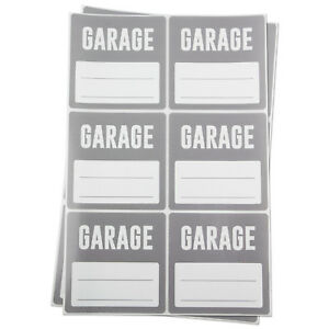 Garage Labels With Blank Memo Note Home Moving Box Write Stickers 3 x3 10pk