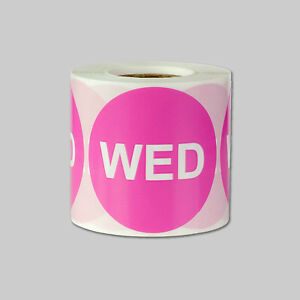 Wednesday Days Of The Week Stickers Calendar Schedule Labels 2 Round Pink