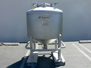 Letco 1000 Liter Stainless Steel Tank W Valves Gauges Drain 30 Psi Fv