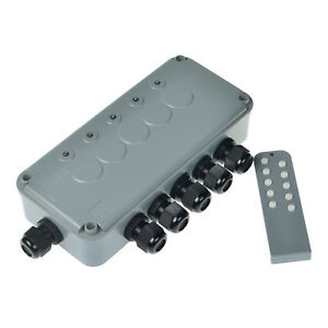 Indoor Outdoor Wireless Remote Control Power Switch Socket Box 5 way On off Ip66