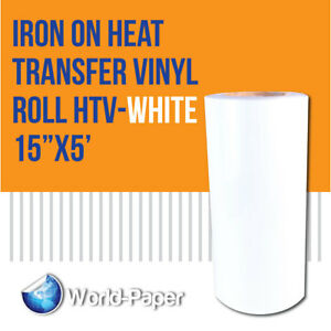 Iron On Heat Transfer Vinyl Roll Heat Transfer Vinyl White 15 x5 Feet