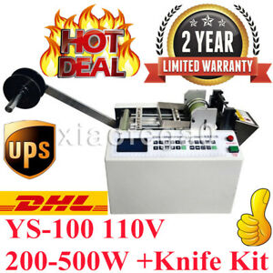 Ys 100 Auto Heat shrink Tube Cable Pipe Cutting Machine 110v 200 500w knife Kit