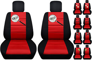 Fits Ford Focus Front Car Seat Cover Black red W frog owl dragonfly more