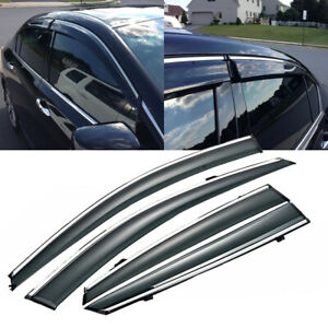 Mugen Style Deflectors Tinted Window Sun Visors For 2013 2017 Honda Accord Sedan
