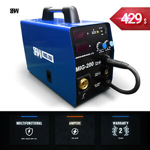 Mig 200 Is A Mig Welder Inverter 200 Amp Mag Welding Machine Gas 220v Tig Gmaw