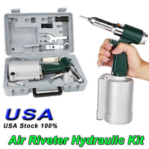 Pneumatic Air Riveter 3 16 Capacity Pop Rivet Gun Kit 5 32 1 8 3 32