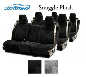 Coverking Custom Seat Covers Snuggle Plush 3 Row Set 2 Color Options