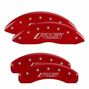 Mgp Set Of 4 Brake Caliper Covers Front Rear Left Right Chevy Lh Rh Camaro