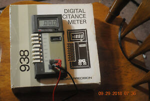Data Precision Digital Capacitance Meter With Cables Exc Working Condition