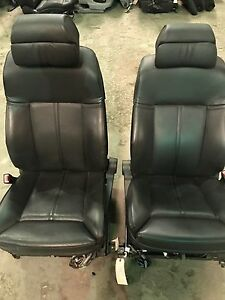 2002 2005 Bmw 745i Front Seats Black Freight Ship
