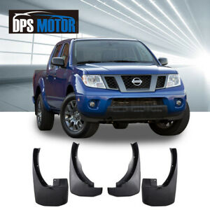 Front Rear 4pc Oe Style Splash Mud Guards Flaps For 2005 2016 Nissan Frontier