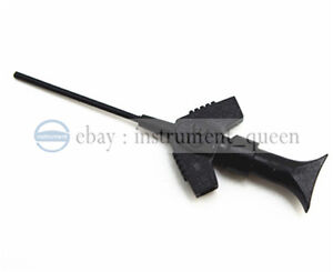 10pcs Black Smt Test Clip With Pincer For Ic Test Measurements
