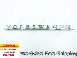Fit For Type 2 Bus 63 72 Emblem High Quality Stainless Steel Rear Hatch Vw T2