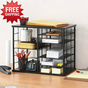 Rubbermaid 12 Slot Organizer College Dorm Desktop Sorter Mdf Storage Shelves New