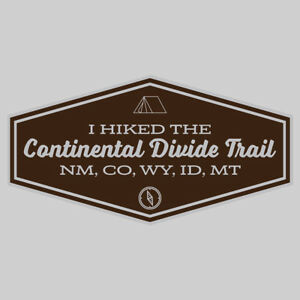Continental Divide Trail Adventure Wanderlust Hiking Camping Fishing Sticker