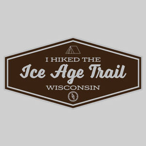 Ice Age Trail Adventure Wanderlust Hiking Camping Fishing Sticker