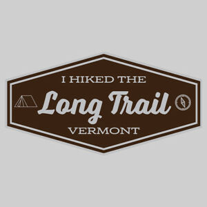 Long Trail Adventure Wanderlust Hiking Camping Fishing Sticker