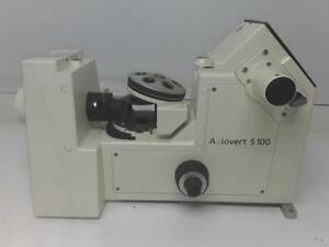 Zeiss Axiovert S100 Inverted Fluorescence Phase Contrast Trinocular Microscope