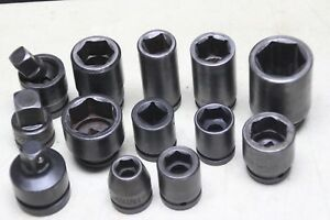 3 4 Inch Drive Impact Socket Lot 13 Pieces Proto Williams More