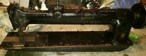 Singer 145w302 Long Arm Double Walking Needle Leather Upholstery Sewing Machine