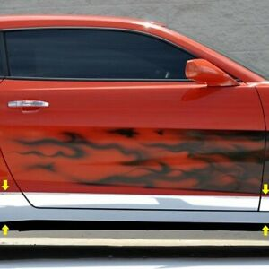 For Chevy Camaro 2010 2013 Acc Polished Rocker Panel Covers