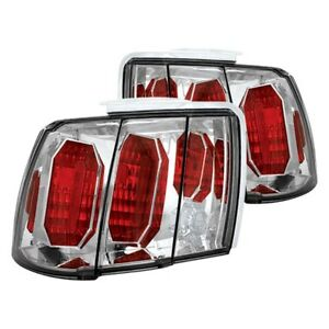 For Ford Mustang 1999 2004 Ipcw Chrome red Euro Tail Lights