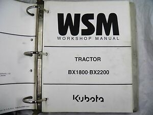 Kubota Bx1800 Bx2200 Tractor Workshop Manual
