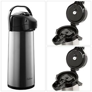 2 2l Coffee Dispenser Airpot Thermos Thermal Hot Cold Beverage Carafe W Pump