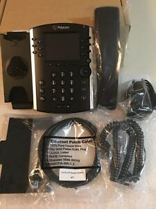 Polycom Vvx 411 Voip Sip Gigabit Business Media Phone 2200 48450 001 With Power