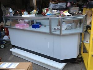 Store Display Case With Storage Lights