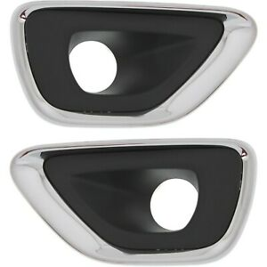 Fog Light Trim Set For 2014 2016 Jeep Grand Cherokee Left And Right 2pc