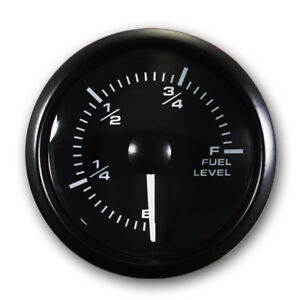 Mgs 52 Mm Electrical Fuel Level Gauge 270 White Amber Led 240 33 Ohms