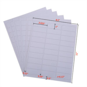 30000 Address Labels 1000 Sheets Bright White Amazon Fba Labels 30up